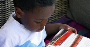 Preschool child reading